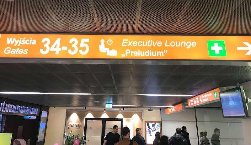 ワルシャワ空港Preludiumラウンジ行き方