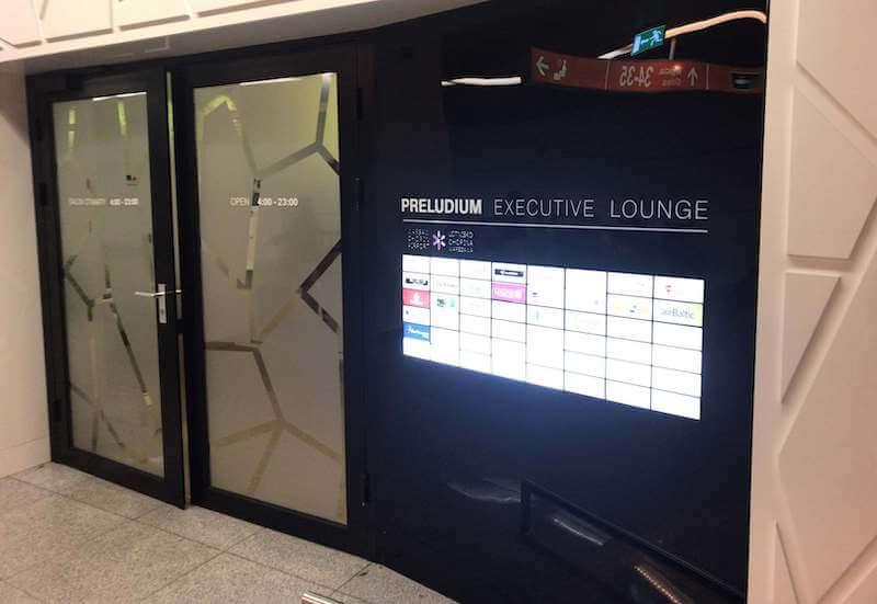ワルシャワ空港ラウンジ【Preludium Lounge】エントランス